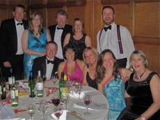 jphoto Collins of solicitors Withy King (top left) and friends enjoy the Marlborough Chamber of Commerce Olympic Jubilee Ball