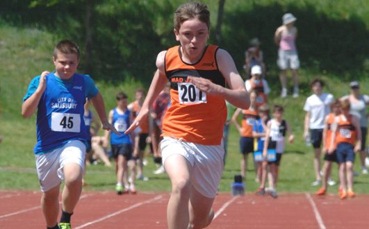 Rory Clark powering his way to success in the 100m
