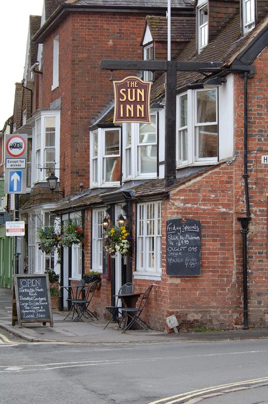 The historic Sun Inn, since renamed 'The Marlborough'