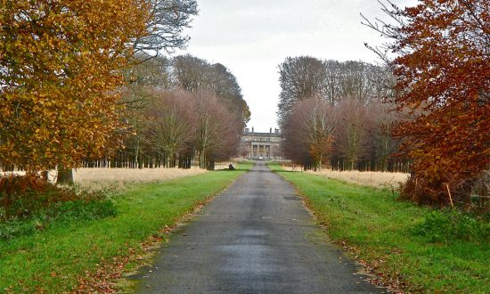 View of Tottenham House fom the Grand Avenue of Savernake Forest