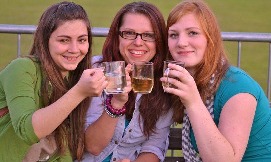 Punters enjoying the 2011 Burbage Beer Festival
