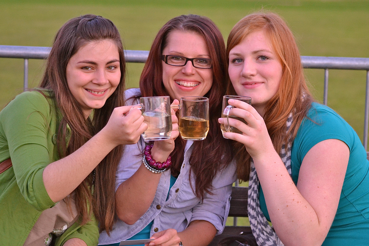 Punters enjoying the 2011 Burbage Beer Festival