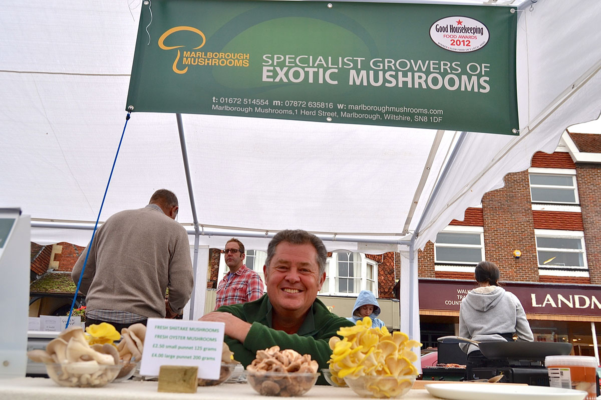Dewi Williams of Marlborough Mushrooms, winner of the Local Hero Award in the 2012 Good Housekeeping Food Awards