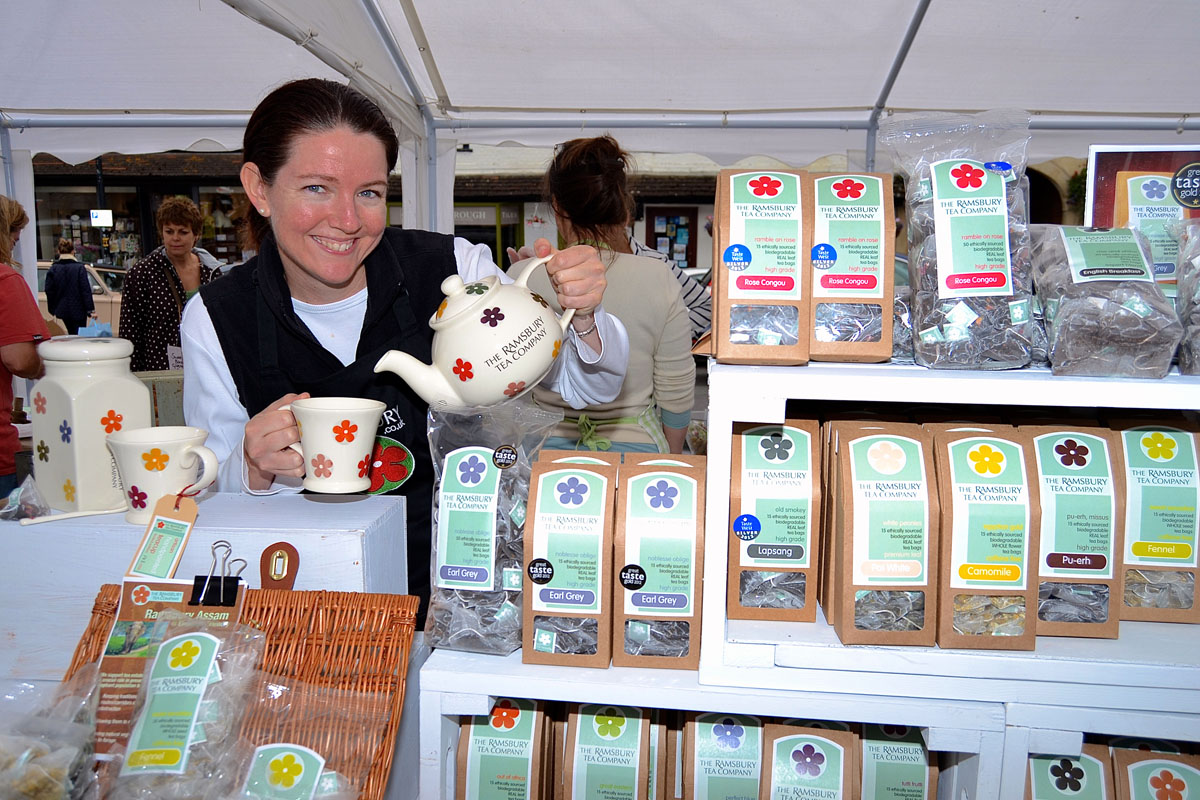 Amanda Fearon of the 2012 Taste of the West medal-winning Ramsbury Tea