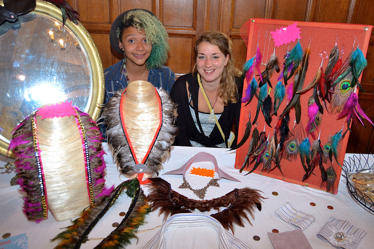Amy Ball and Scarlett Camm of Shyroom, a new business which sells 'up-cycled' jewellery