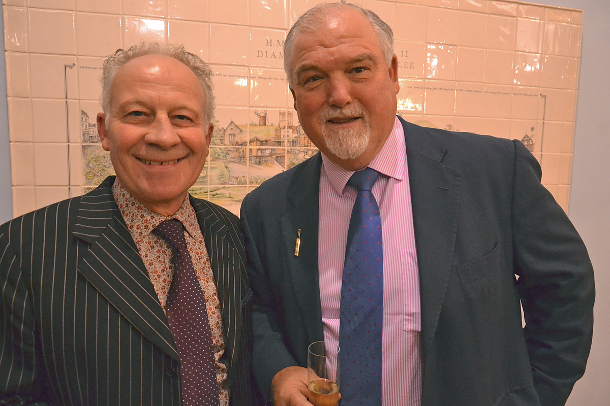 Lambourn-based national hunt jockey Colin Brown, who rode Desert Orchid to 17 wins, with guest speaker,  former England cricket captain Mike Gatting