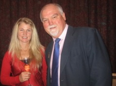 Mike Gatting with Jonnelle Richards, the Minal-based  member of New Zealand's bronze medal-winning London Olympics equestrian team
