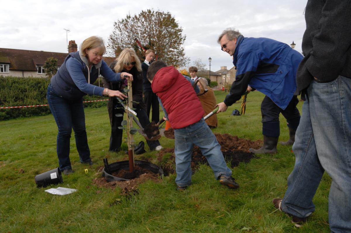 Neville Hobson, school govenor, does the spadework for St John's
