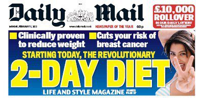 The 2-Day diet from the Daily Mail