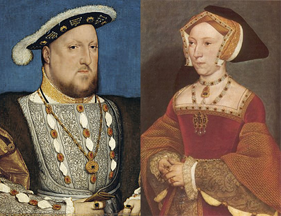 Henry VIII and Jane Seymour, who met whilst hunting in Savernake Forest