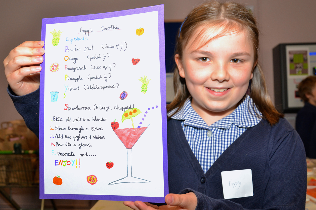 Poppy Childs with her award-winning recipe