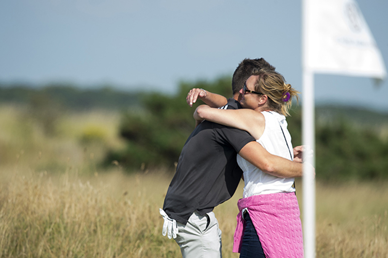 Ben Amor congratulated by his mother (copyright Leaderboard Photography)