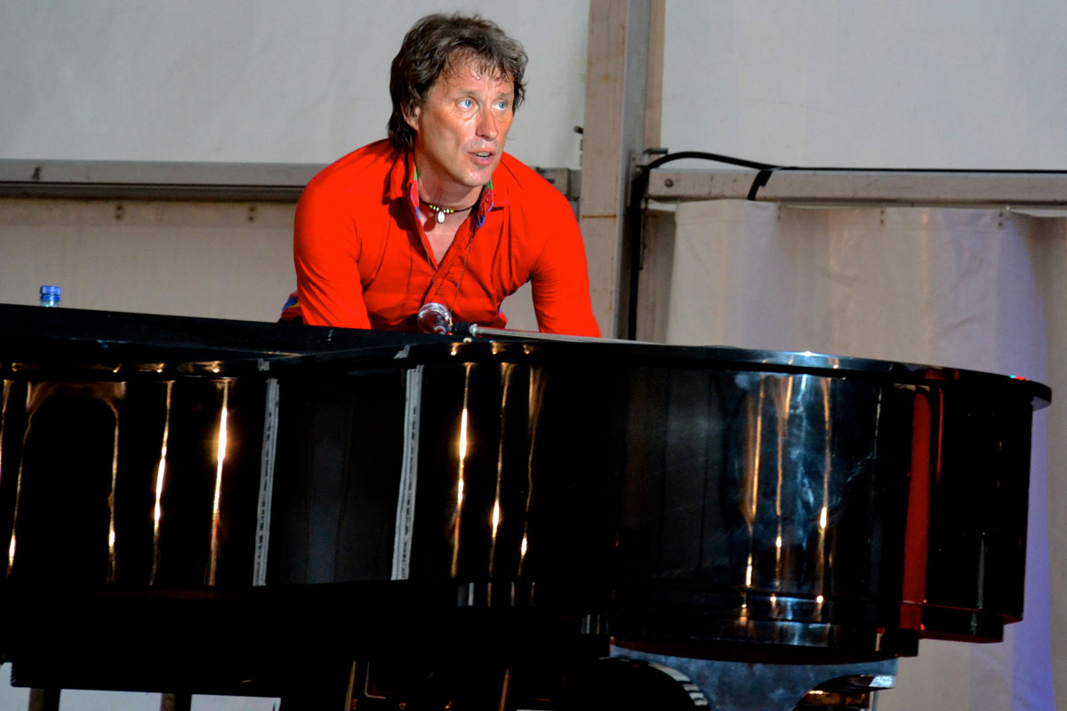 Behind the piano: Bandleader Neil Drinkwater