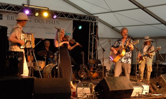 Chris Jagger at the Brewin Dolphin Bandstand