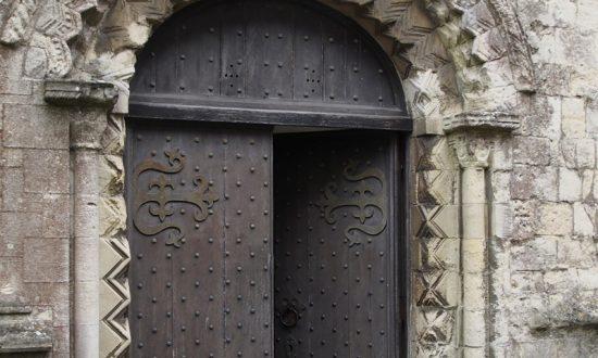 St Mary's: 12th Century west door