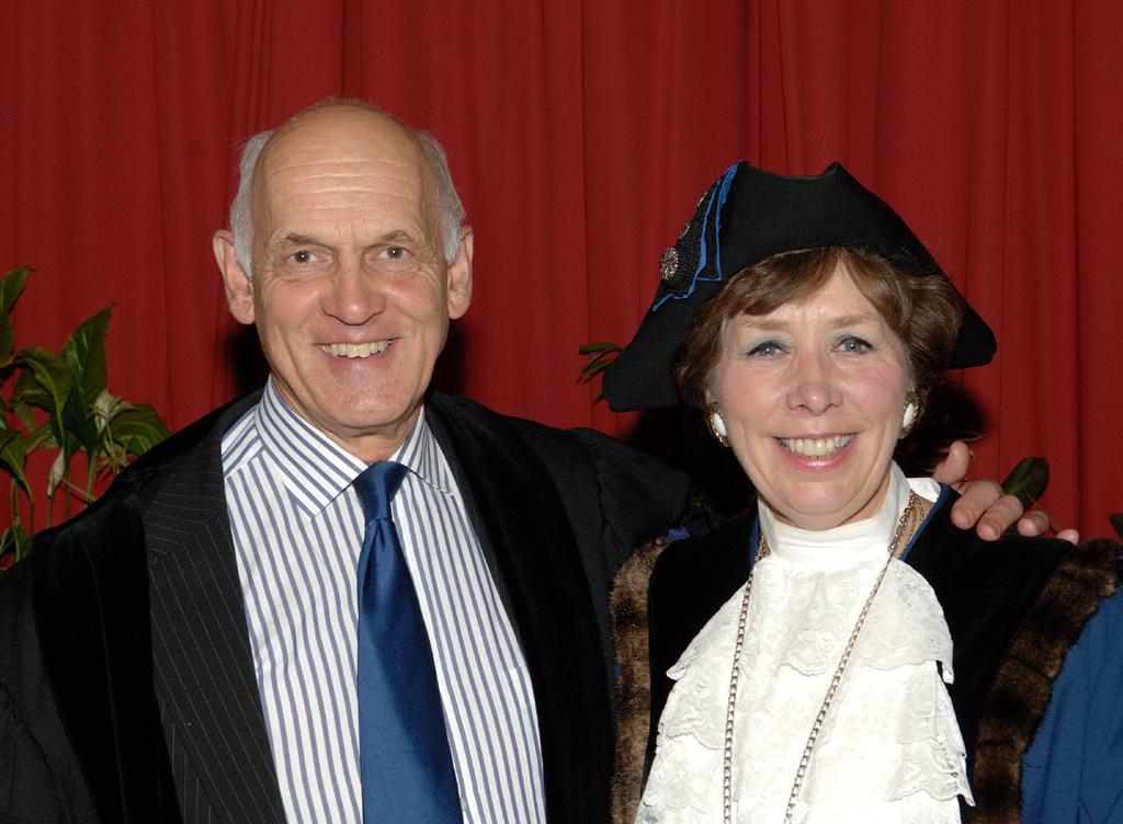 Former Mayor, Councillor Stewart Dobson with his wife, Deputy Mayor Councillor Marian Hannaford-Dobson at last May's Mayor-Making ceremony