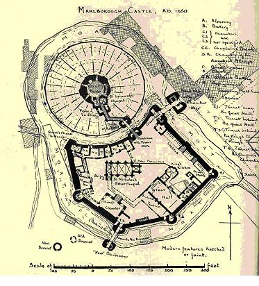 Marlborough Castle - ground plan