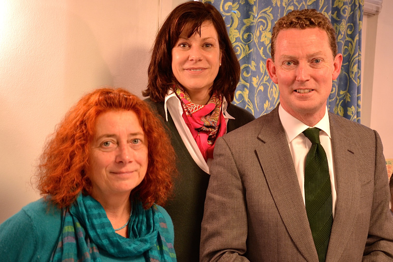 Dr Sam Page, Claire Perry MP, and energy minister Greg Barker