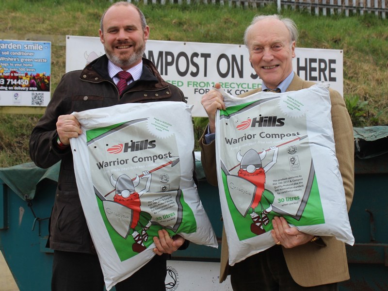 Mike Hill left and John Blake are encouraging Wiltshires villages to enter the competition