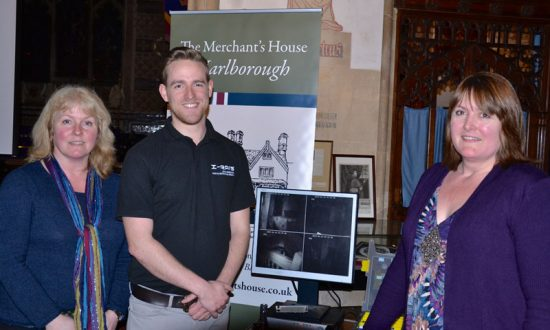 Sam Pinkney and Ally Stott of the Merchant's House with Greg Rudman from XRAIS