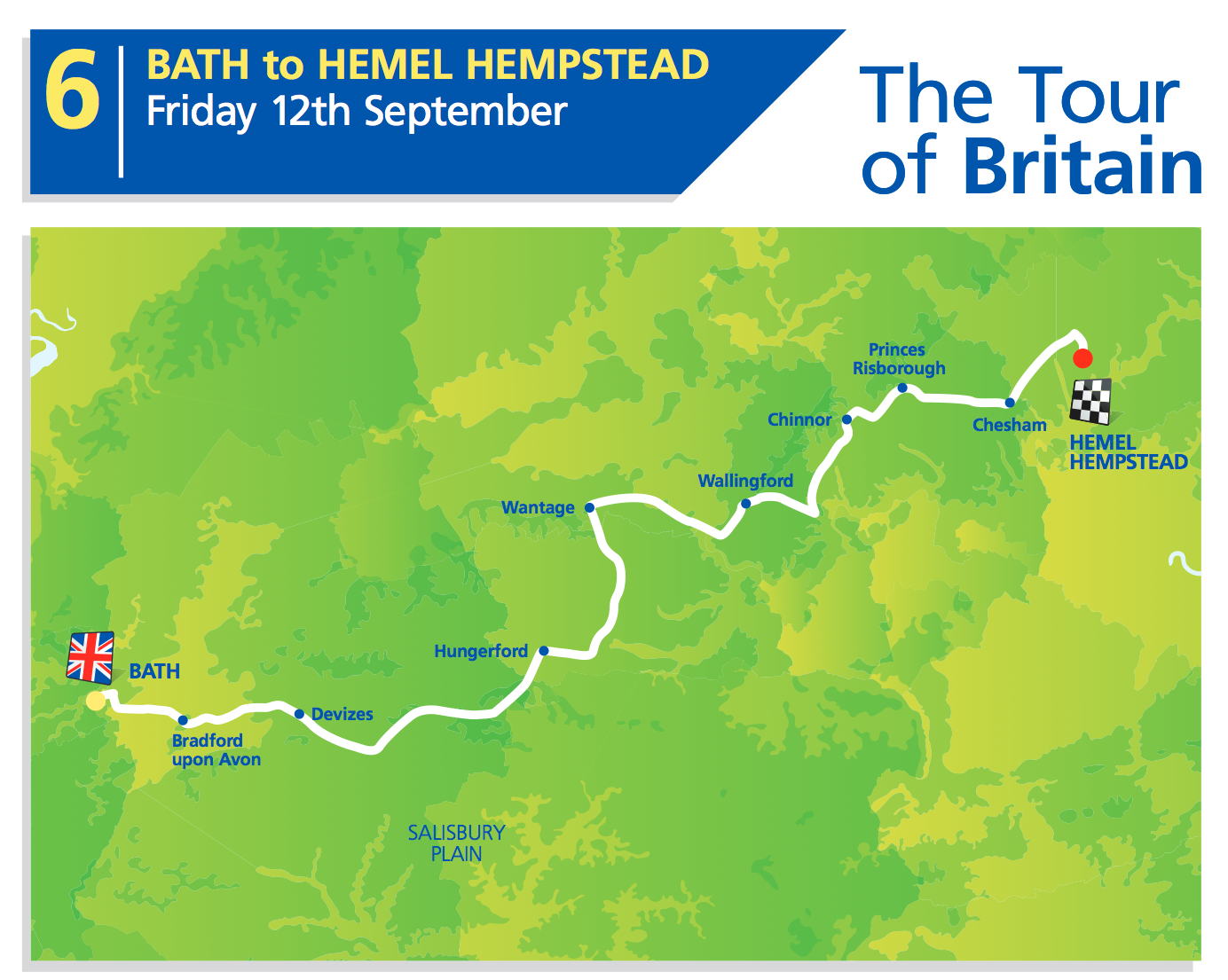 Tour of Britain, stage six - click to enlarge