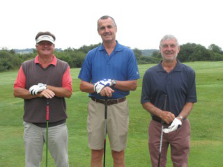 Three early starters: Nick Chapman (Marlborough), Bob Crocker (North Wilts) & Geoff Laney (Marlborough)