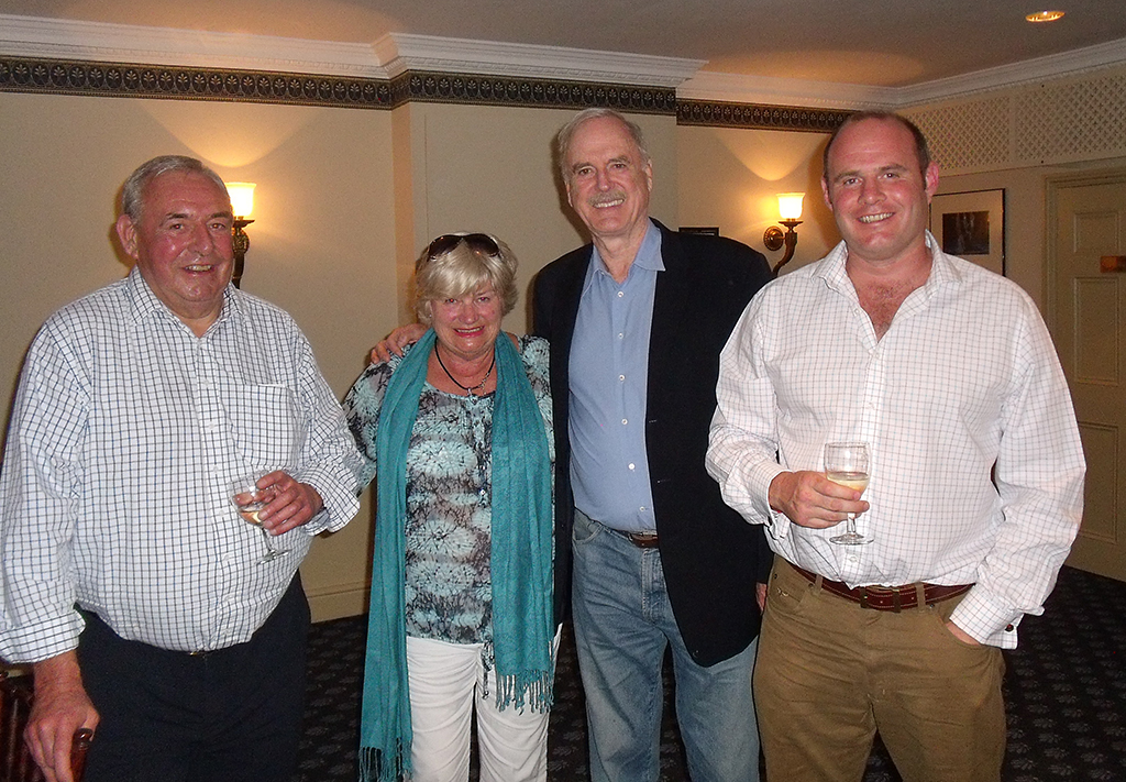 Robert and Rosie Hill with John Cleese and Mike Hill
