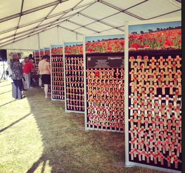 The Wall of Remembrance at the Tidworth Commemoration