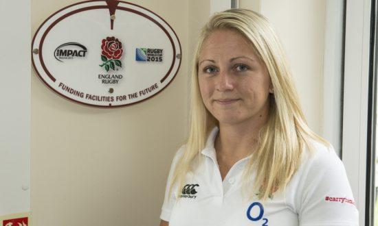 England Womens Fly Half Ceri Large