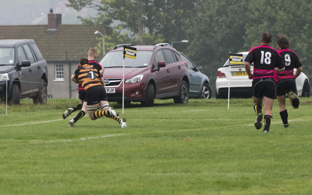 Excellent last ditch try-saving tackle from Joe Mitchell