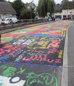 Pewsey's painted bridge