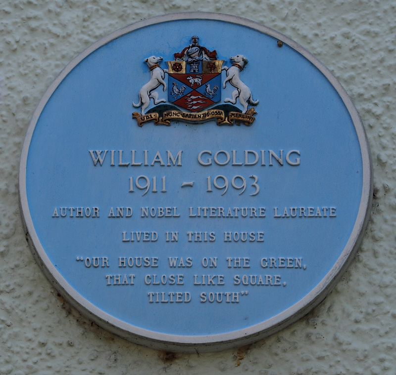The blue plaque at 29 The Green