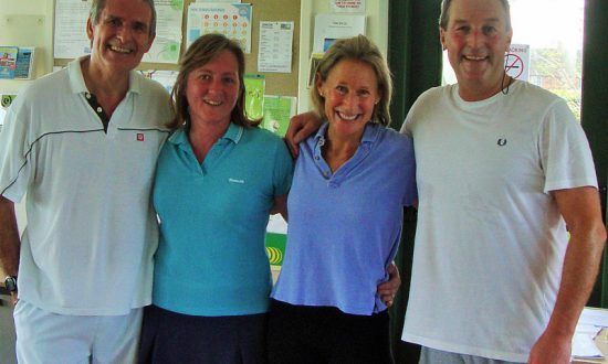 Mixed winners and runners up Colin Gratton Clare BamforthAnabel Rugge-Price and Nick Hewens