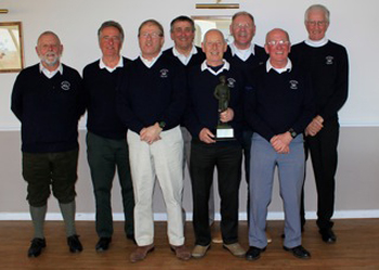 Marlborough's winning team: (l to r) Graham Daws, Gordon Buckett, Grant Talman, John Thomas, John Parsons (capt), David Ferris, John Sprules, Sean Swords.