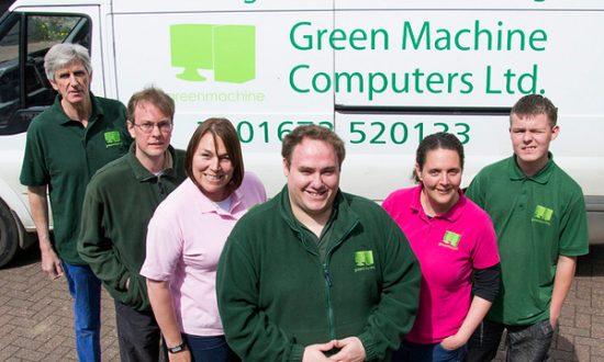Richard Paget Chris Graham Carolyn Wilson Simon Crisp Marie Crisp and Jake Morrison of Green Machine