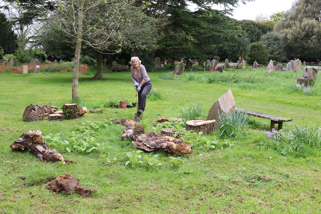 Mayor Margaret Rose preparing new Foxglove Glade in the Victorian Cemetery