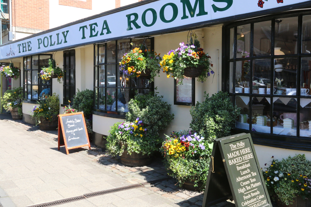 Polly Tea Rooms who are providing a champagne lunch for the judges