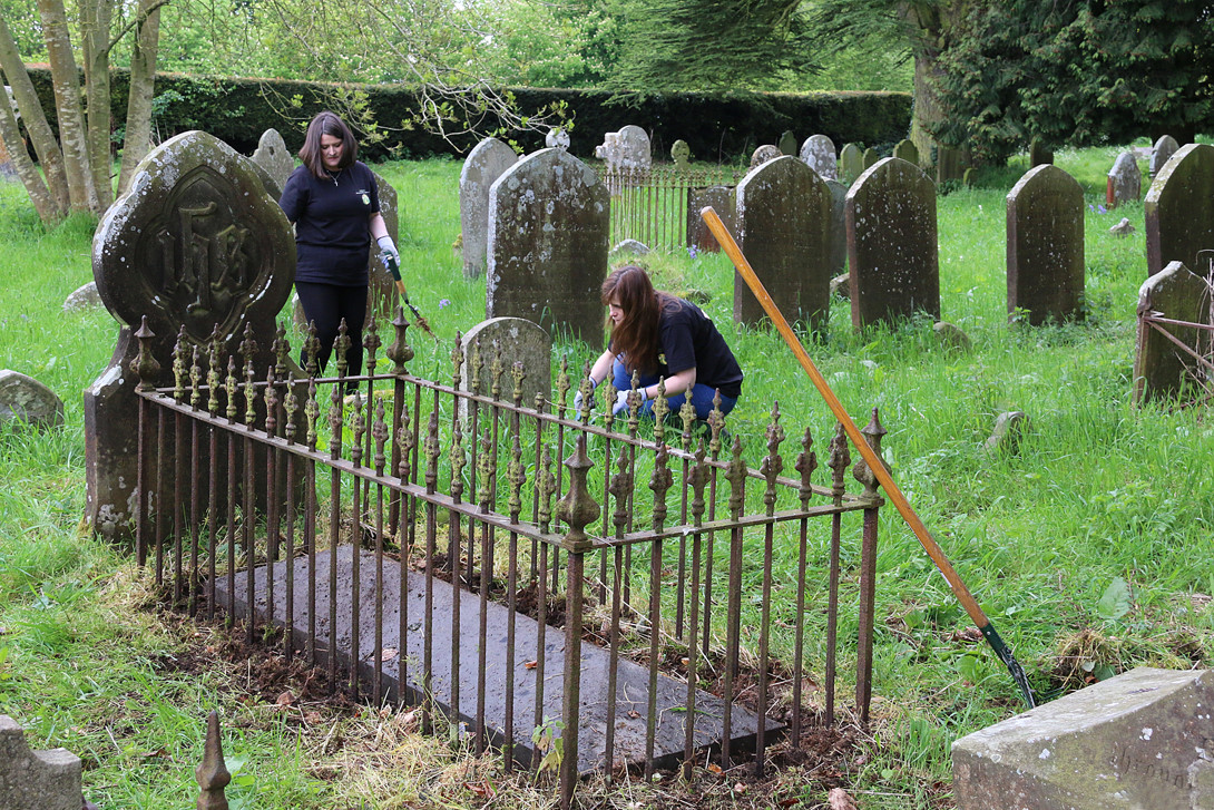 Volunteers clearing Victorian Cemetery