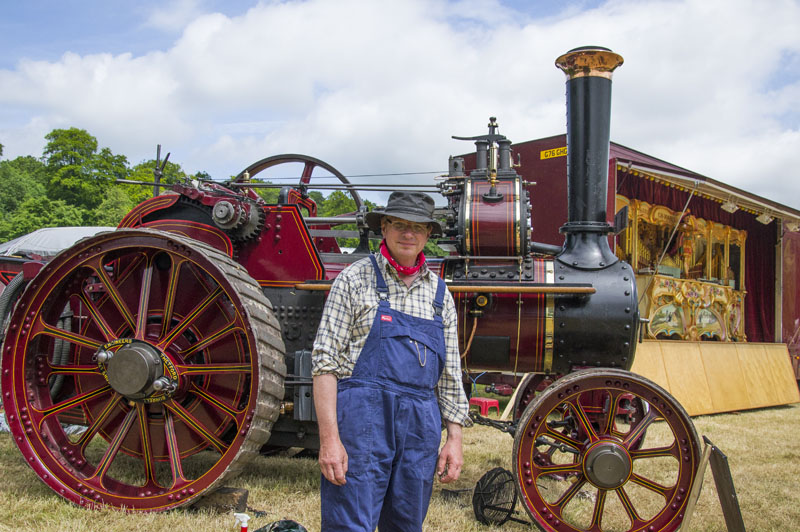 Tim Mayhew with his Burrell Agricultural Engine