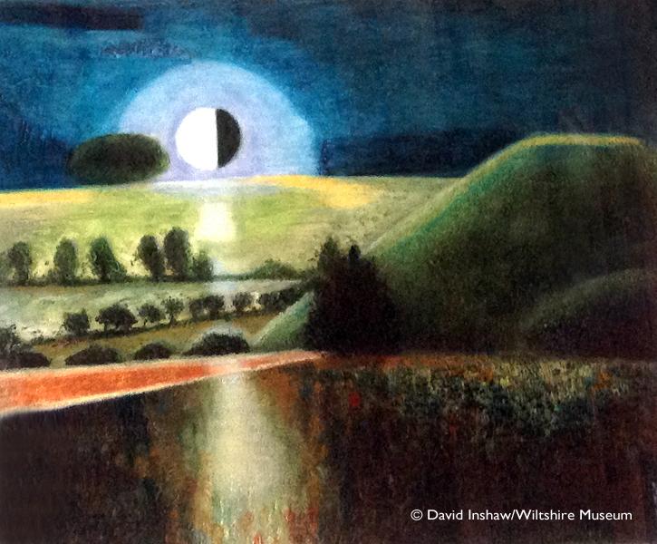 Silbury at Night - David Inshaw