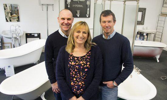 Stewart Joyce with Donna and Nick Cowen