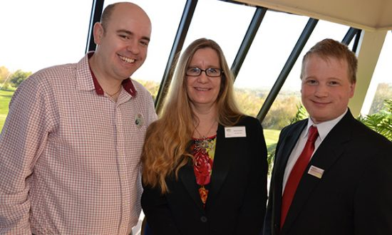Allison Burden with Nick Helps from Tesco and Stephen Fenna from Waitrose