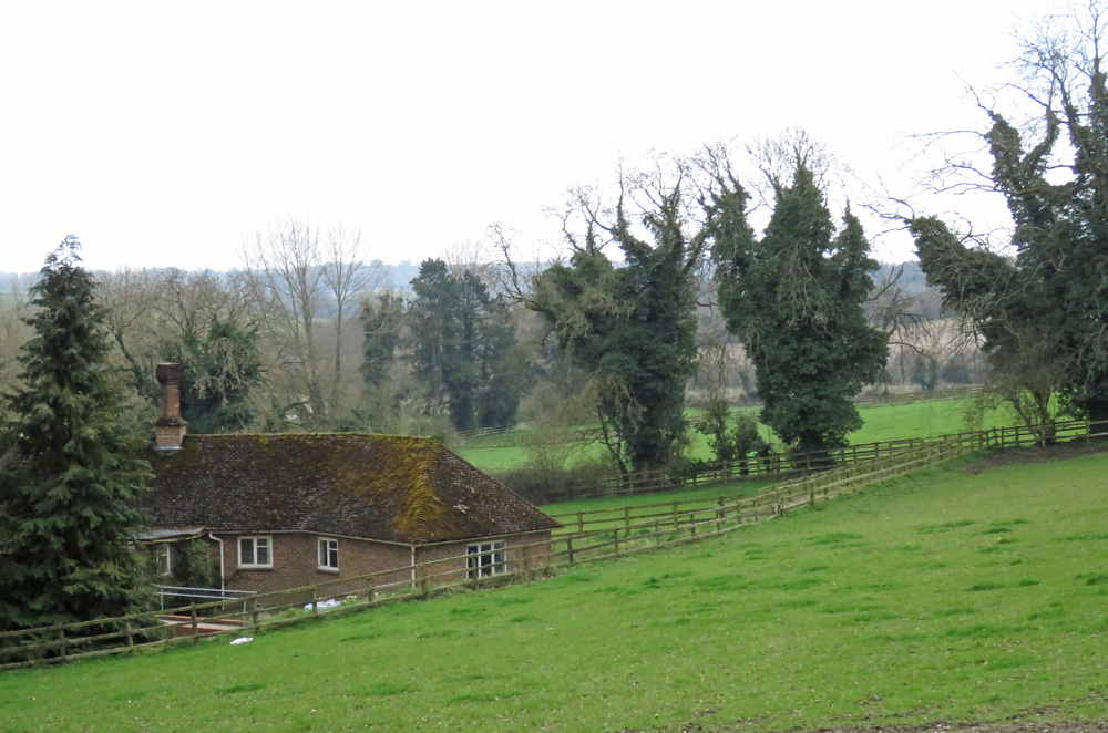 The boss's bungalow - with paddocks beyond