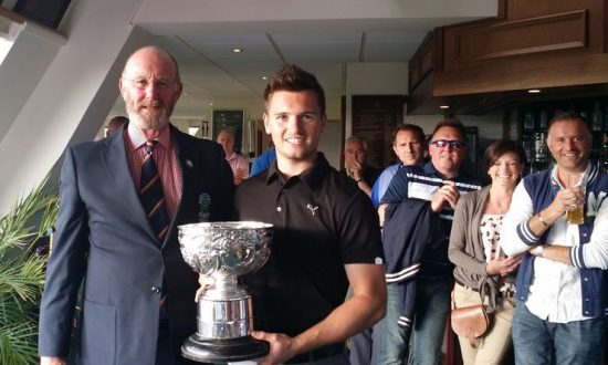 Ben Amor with the trophy (Photo: Wiltshire Golf)