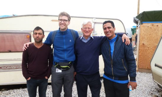 Dr Johnstone Dr Nick with Sami and Mustapha our 2 interpreters