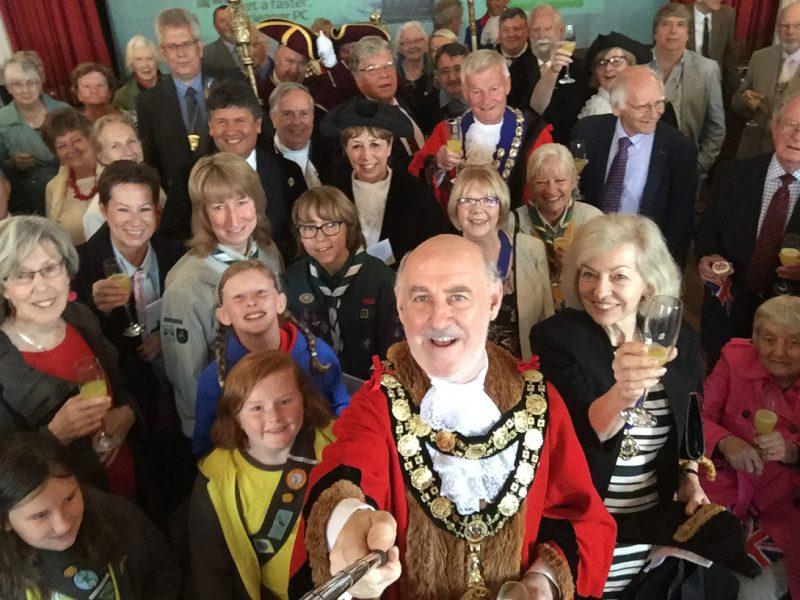 The first(?) Civic Selfie - pic courtesy of Marlborough's Mayor, Councillor Noel Barrett-Morton