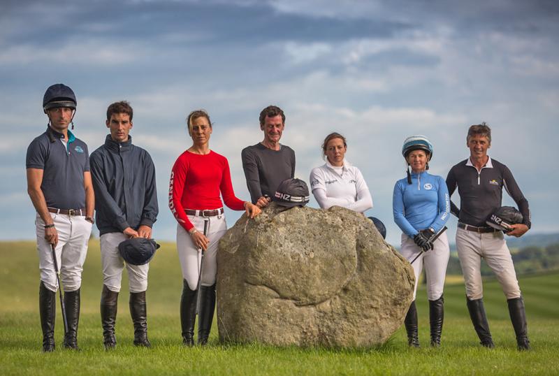 L-R: Tim Price, Astier Nicolas, Rebecca Howard, Sir Mark Todd, Flora Harris, Jonelle Price , Andrew Nicholson (Photo by Niels Van Gijn)