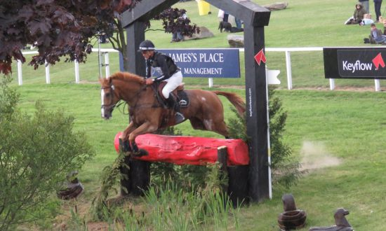 Nicholson and Nereo clear one of the arena obstacles