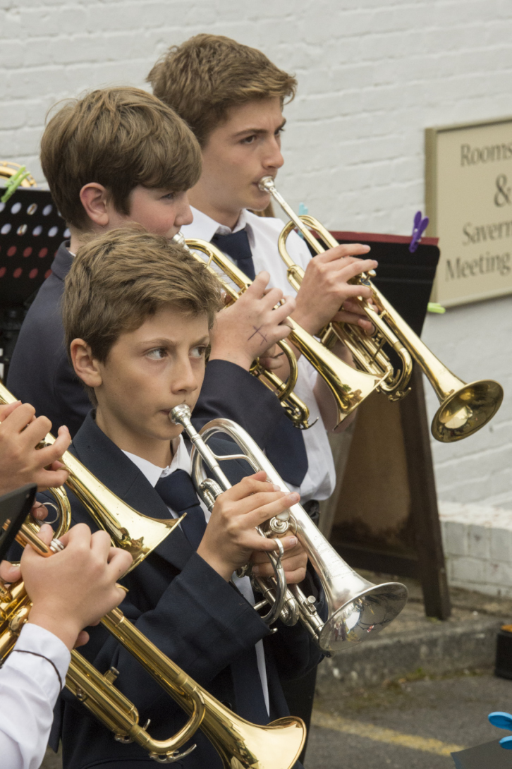 St John's Jazz Band light up the opening ceremony