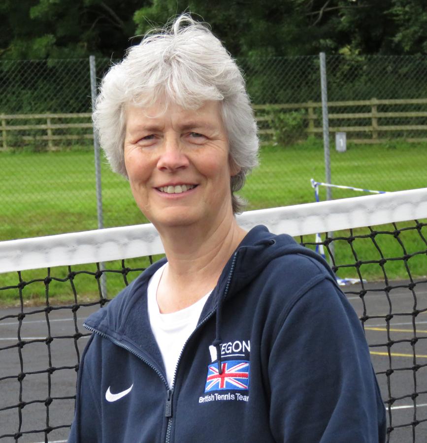 Hilda Moore wearing her Davis Cup Legacy coaching gear